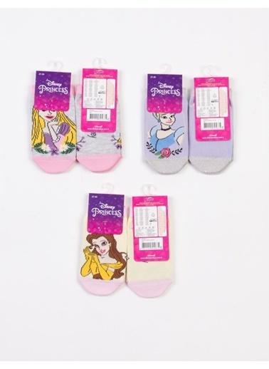 Prenses  Prenses Lsanslı 6 Çift Çocuk Patik Çorap 18210 Pembe